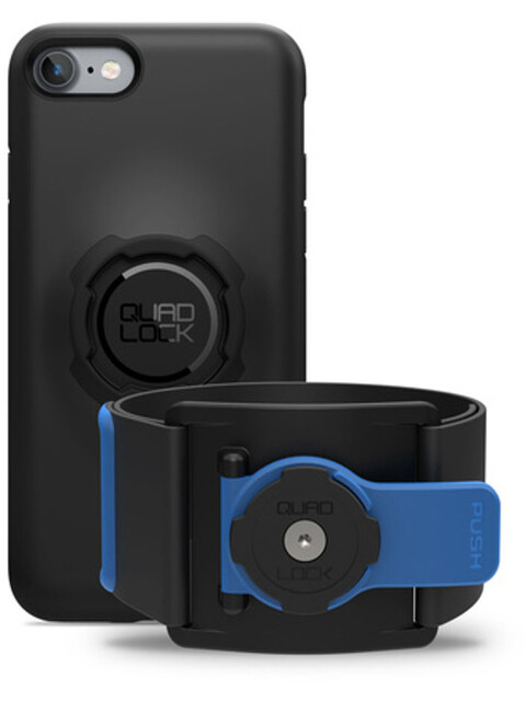 Quad Lock Run Kit iPhone 7/8 blauw/zwart
